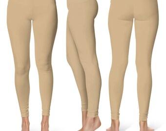 Tan Leggings, Workout Wear, Yoga Pants for Women