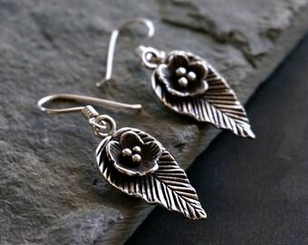 Nava Sterling Silver Leaf Earrings Boho Jewelry Women Earrings Jewelry