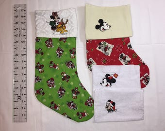 Unique Embroidered Personalized Cotton Christmas Stocking
