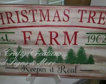 Tree farm wood sign 12x24