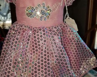 Doll Dress pink sequin