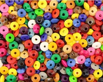 400 pcs - Wood Bead Mix (Saucer) 6MM