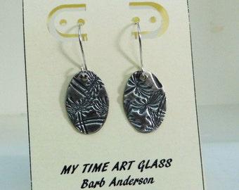Fine Silver Dandelion Earrings