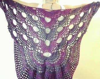 Crochet Ombre Butterfly Shawl