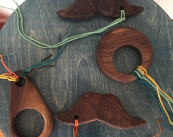 All Natural Handmade Wooden Teethers!  Made in the USA.  Stocking Stuffers for Babies & Toddlers.