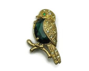 Vintage Jelly Belly Style Bird Brooch