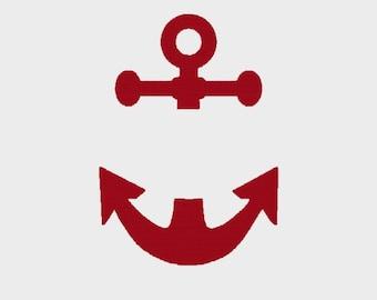 Anchor monogram frame - (font NOT included) - INSTANT DOWNLOAD - Item #2003