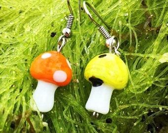 Various mushroom earrings