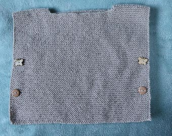 Beige poncho for baby in 1-3 months.