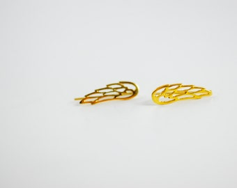 Tiny Wings Gold-Plated Sterling Silver Ear Climbers