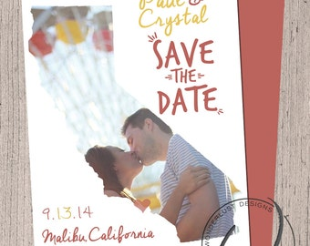 California Save The Date | Wedding Save the Date Design | Made to Order | Digital File