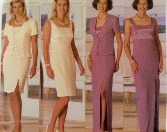 Butterick Pattern 5364, Women's Jacket and Dress Pattern, Formal Dress Pattern, Evening Gown Pattern, Size 8, 10, 12, Uncut Pattern