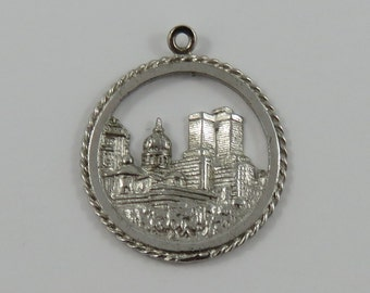 Montreal Skyline Sterling Silver Vintage Charm For Bracelet