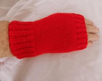 Wrist Warmers/Arm Warmers/Fingerless Mittens/Fingerless Gloves/Hand Warmers in Red