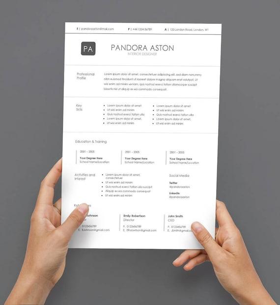 CV Lebenslauf 5 verschiedene Farben die im Download
