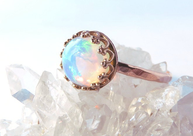 Opal ring Rose Gold Opal Ring Gold Opal Ring Rose gold