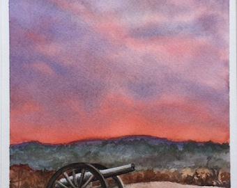 Antietam Sunrise Original Watercolor