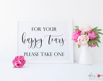 Printable Wedding Tissues Sign.