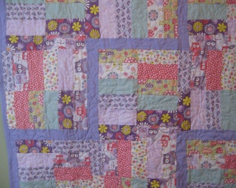 Owls galore baby quilt