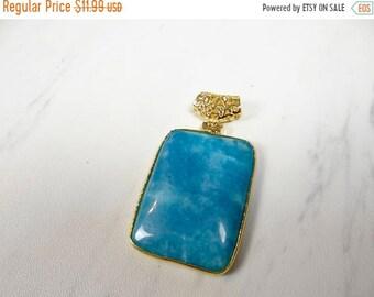54% Off Sale Beautiful Blue aquamarine gold plated Pendant/43x32mm