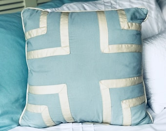 Blue & White Decorative Pillow