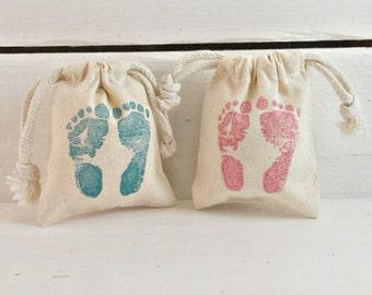 BULK Baby Shower Favor Bags | Baby Feet Favor Bag | Baby Feet Shower Favor Bag | Its A Girl | Its A Boy Favor | BULK Favors for Baby Showers