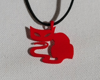 Wicked Red Cat Pendant