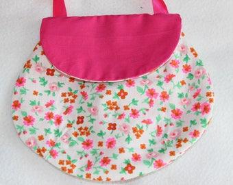 Shoulder bag for girl motifs flowers