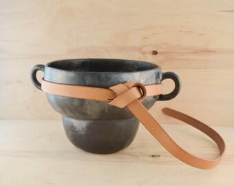 "Leather tie belt for women Natural full grain leather belt Vegetable tanned belt for dress Minimalist belt Buckle less belt 3/4"" wide"