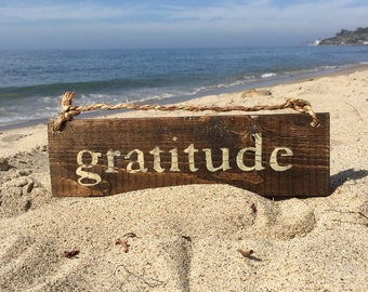 Gratitude Wood Sign / Inspirational Sign / Yoga Decor / Bohemian Decor / Hippie Decor / Hippie Sign / Gypsy Decor / Wall Decor / Wall Art