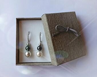 Pearl earrings, pendant earrings, elegant earrings, gift for her