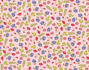 CLEARANCE - Penny Rose Fabrics - Meadow Sweets - Meadow Floral Pink by Jililly Studios (C5651-PINK)