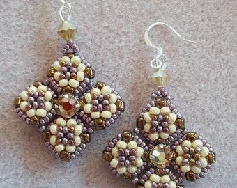 Meridian Earrings PDF Bead Weaving Tutorial (INSTANT DOWNLOAD)