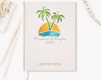 Wedding Guest Book, Beach Wedding Guestbook, Destination Wedding Guestbook, Palm Tree Guest Book, Wedding Memory Book, Wedding Notebook