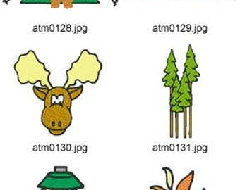Camping Set 2 ( 10 Machine Embroidery Designs from ATW ) XYZ17D