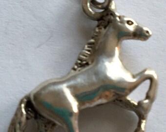 Vintage Silver Horse Charm 925