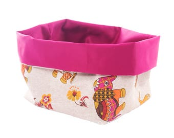 Accessories storage basket fabric basket
