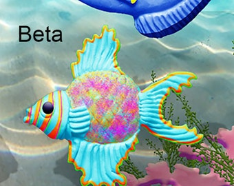 Beta Fish Silicone Mold by Scott Clark Woolley
