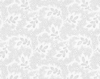 Whisper Prints 3 Grey Sprig - 1/2yd