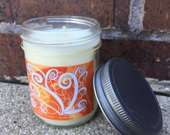 White Pumpkin Soy Candle- Pumpkin Vine by Christos S.