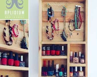 Storage for nail polish, jewelry and accessoires