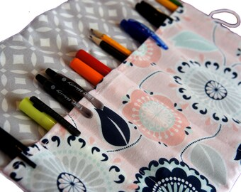 Graduation Gift, Pen Case, Adult Coloring pencil case, Floral