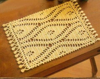 Crochet doily -  Square doilies - Yellow doily - Home decor - Crochet doilies - Mother's Day - Handmade - Handmade tablecloth