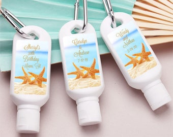 10 pcs Personalized Wedding Mini Sun Screen - Dancing Starfish  (PPD-JM404367-1-FC6799)