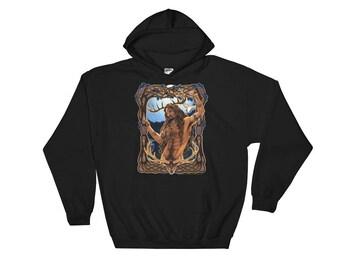 Cernunnos Herne Pagan God Hooded Sweatshirt