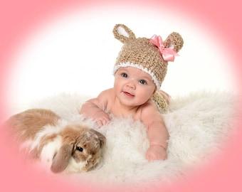 Newborn Crochet Bunny Hat
