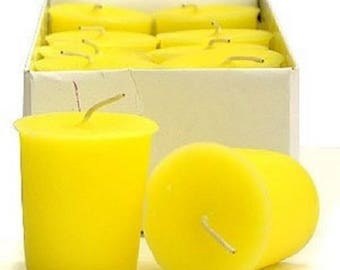 15 Hour Yellow Unscented Soy Votive Candles Pick A Pack
