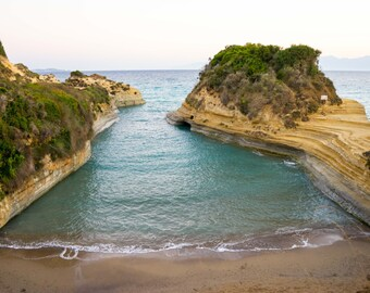 The Beautiful Canal D'Amour Mediterranean Sea in Sadari on the Greek Island of Corfu Canvas Picture and Photographic Print Wall Art
