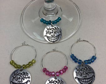 Alice in Wonderland Wine Charms