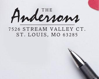 Family Name Return Address Stamp Self Inking - Wedding Gift Bridal Shower Gift  Realtor Gift Housewarming Gift Rubber Stamp E64
